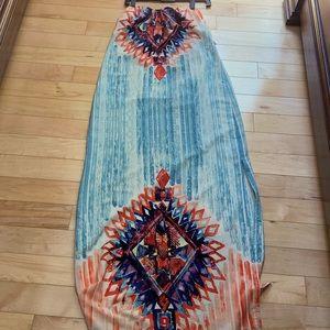 Vici strapless maxi dress